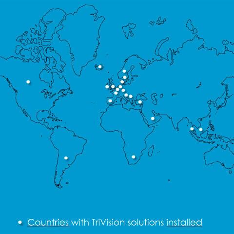 trivision kort over verden