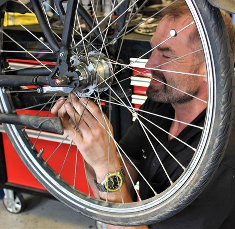 mekaniker hos cykelgruppen