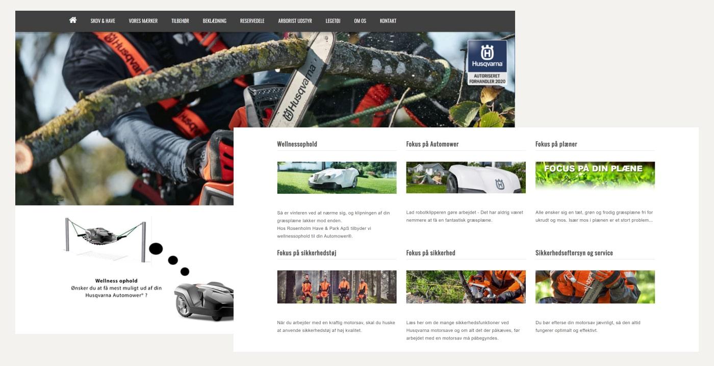 Rosenholm Have & Park webshop