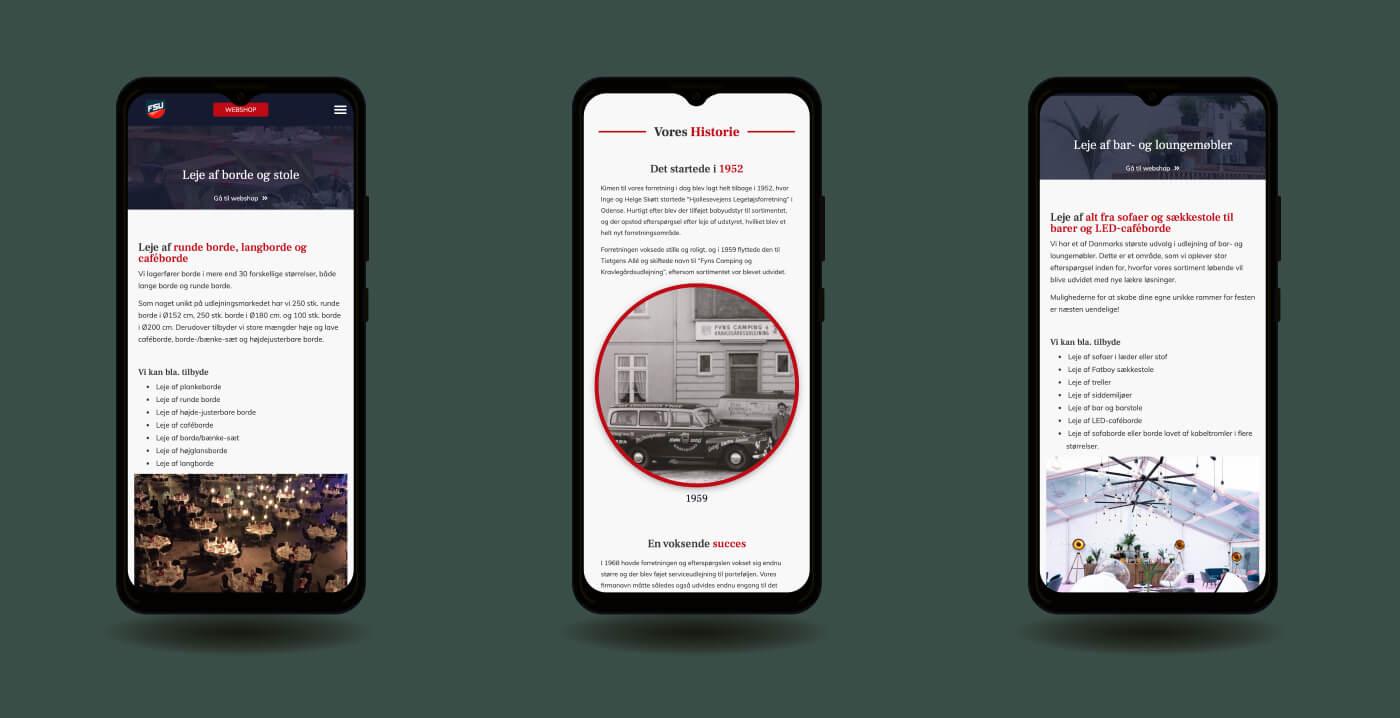 FSU hjemmeside mobilvisning