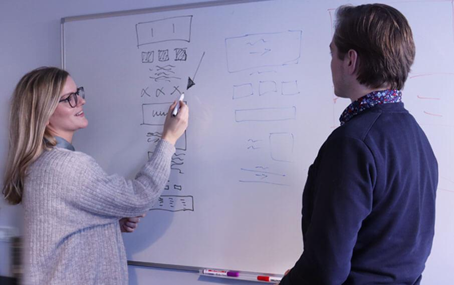 Nanna og Martin fra IT Stack gennemgår webdesign